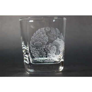 Tang lion peony · arm rock glass