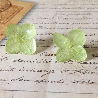 Hibari hydrangea earrings*Peridot*PC004