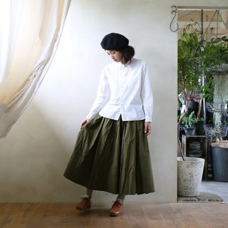Parachute cross long skirt · khaki