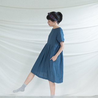 Aegean Pleated Linen Dress