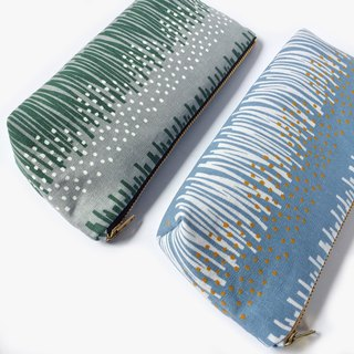 Pencil Pouch, Pencil Case, Small Cosmetic Bag, Grassland Abstract Print