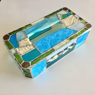 Tissue box case Great nature glass Bay View