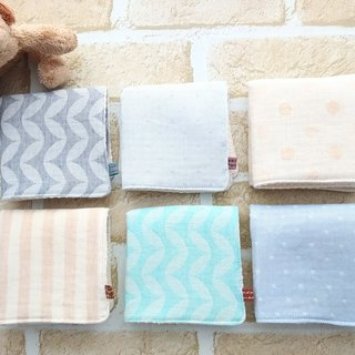 Organic Cotton Baby Wash Cloths, Set of 6, Handkerchief, Towel, Japanese Fabric