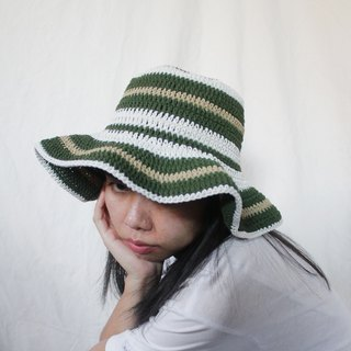 Striped Crochet Hat ,Forest Palette Hat ,Summer Hat ,Baby Hat