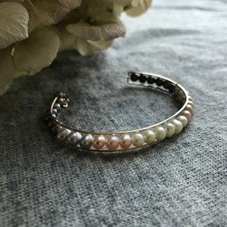 [Bangle] Fresh water pearl + rare gradation bangle of 14 KGF / LunaBg 01