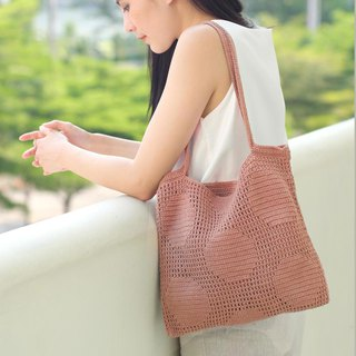 Crochet Polka Dot Tote Bag | OldRose