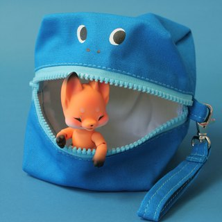 Glutton Monster Square (cube) Zip Purse (3 colors)