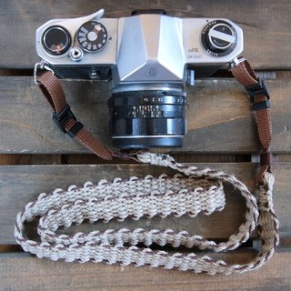 Asahimo hemp camera strap BRW (2 double ring)