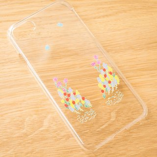 【IPhone case】 flower garden clear smartphone case