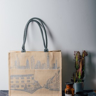 城市之间潮麻包 Between Cities KK Jute Bag