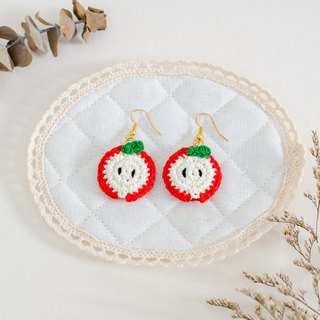 Earrings crochet fruit | The Apple