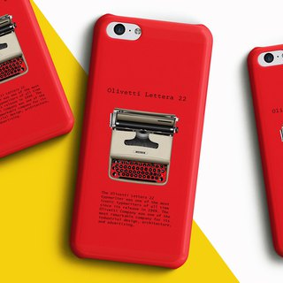 Type writer Olivetti Lettera - red Phone case