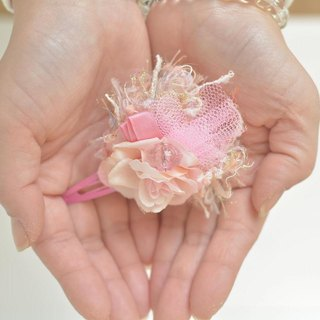 Baum Flower Hair Pin Pink