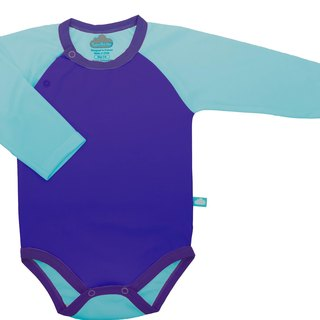 SanBelle Baby Bodysuit★SkinProtection★0-12m Purple×Calypso