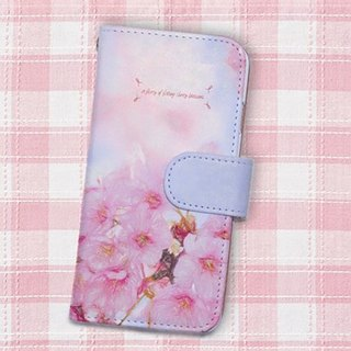 【All models supported】 Free shipping 【Handbook type】 Sakura dance smart case