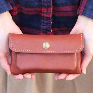 mare-wallet Chocolate Tochigi Leather Wallet