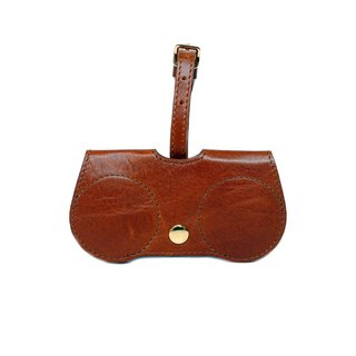 Chestnut B.Cover Hanging Out leather Pouch Cases Sunglasses