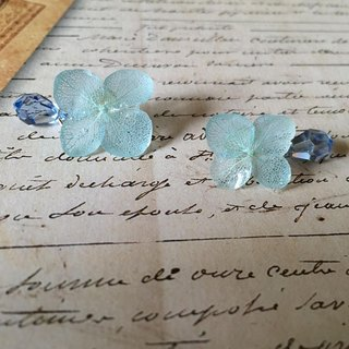 * Aquamarine * Hydrangea pierce and drop catch