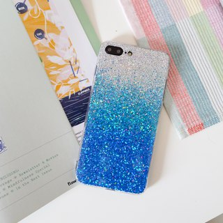 blue ombre | case, phone case, glitter case, iphone case, samsung case