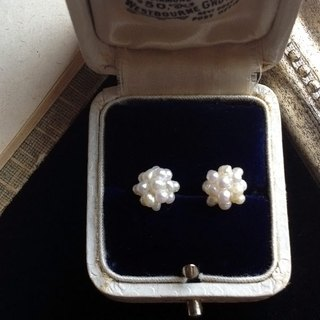 14 kgf Small freshwater Keshi pearl collapse earrings OR ear clip