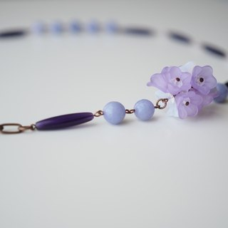Necklace项链: Queen's Good Old Days Necklace (Lavender薰衣草) - N037