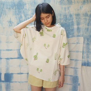 linnil: Cactus poncho / made of cotton & limited amount