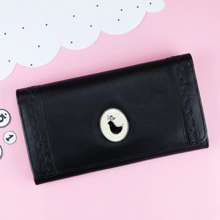 [BLACK] Cony Cake Long Wallet [Cow Leather]