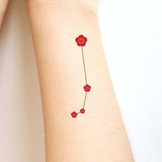 Aries Zodiac sticker tattoos. Japanese cute style.