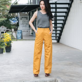 Long and Width Pants - Yellow