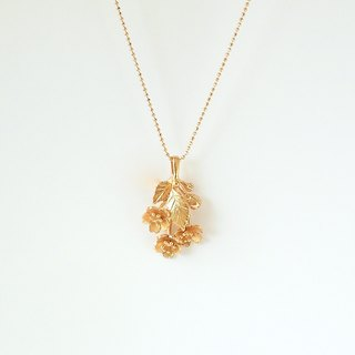 Cherry blossom bow necklace
