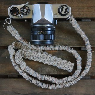 MIX hemp camera strap earth_color / double ring