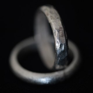Handmade Silver Ring with etched or hammered surface (R0026)