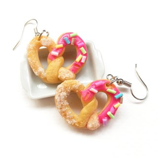 Strawberry bread earring