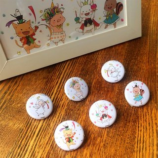 Can badge (set of 6 parties)