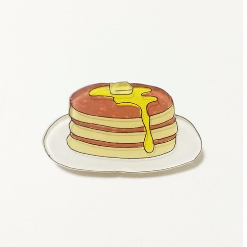 Pancake brooch pancake brooch / made of plastic