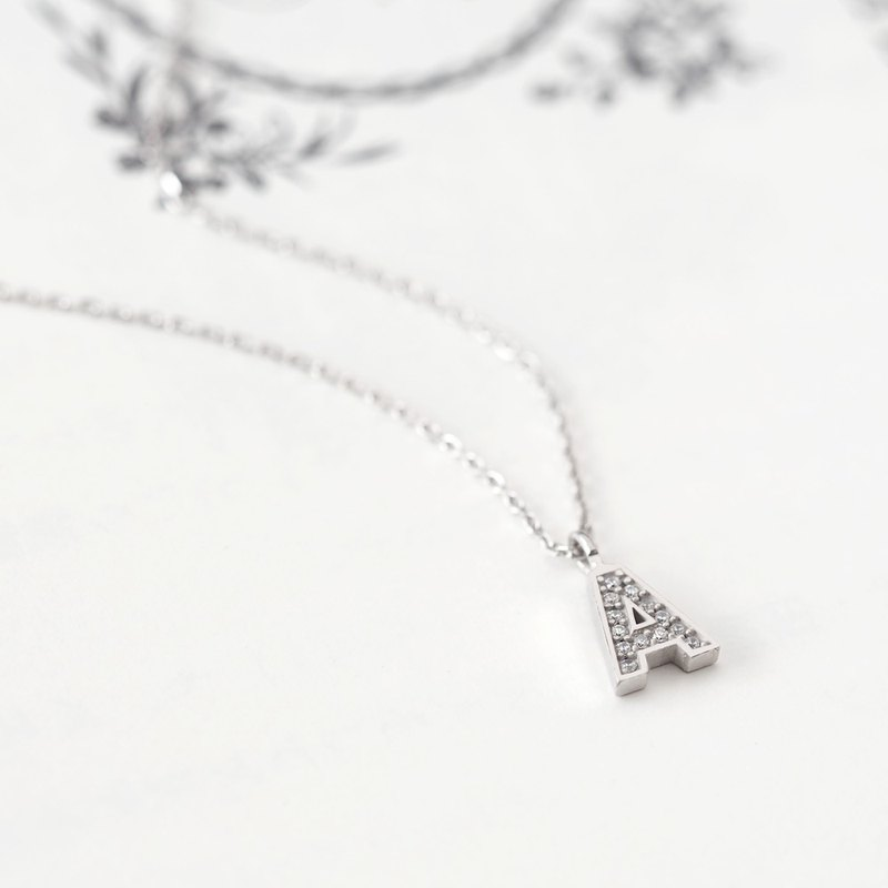 Initial A Alphabet Necklace 925 Silver