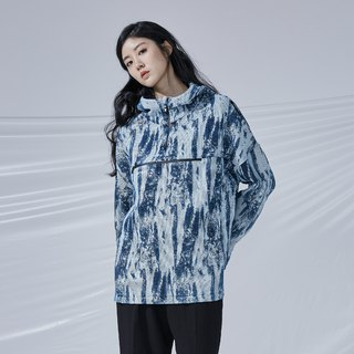 DYCTEAM - Brush Pattern Jacquard Anorak 丹宁笔刷缇花冲锋衣