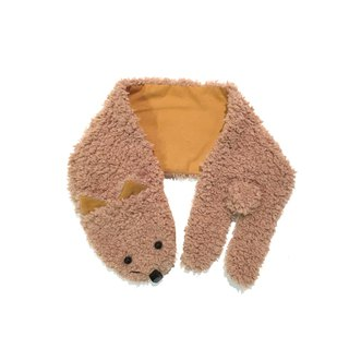 Muffler of the dog cat   Orange camel