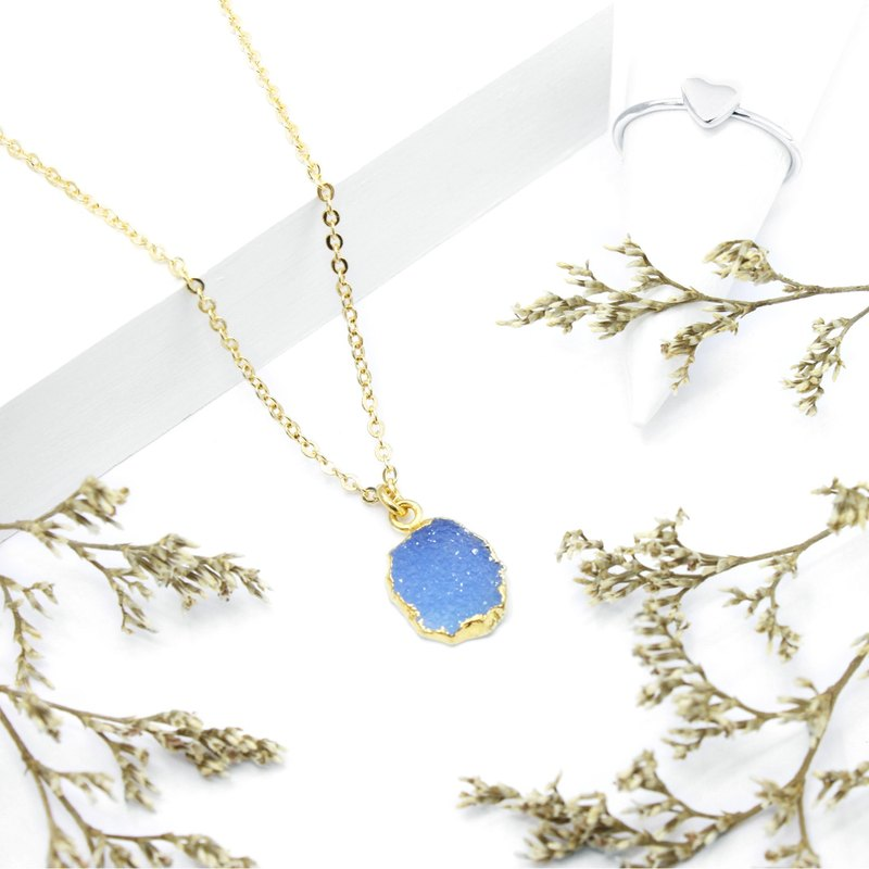 3:am 物语 - 海蓝宝 铜颈链 Aquamarine Brass Necklace