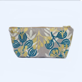 Meadow Large Zipper Pouch, Canvas Cosmetic Bag,Travel Gift Women
