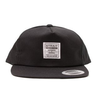 TAG 5PANEL SNAPBACK CAP # BLACK