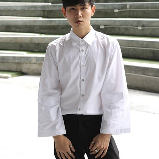 'Leonard' Wide Sleeve Shirt (White)