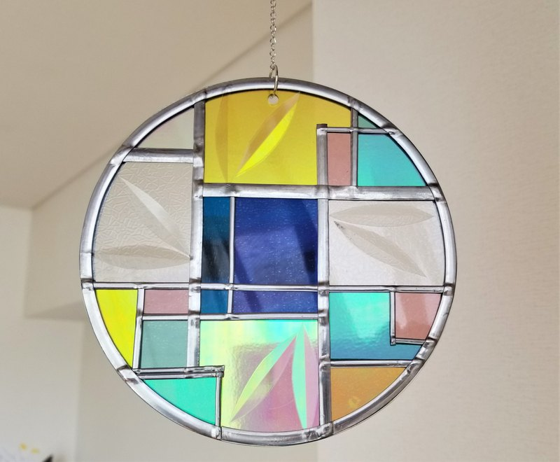 "Round SunCatcher ""Art Deco1"""