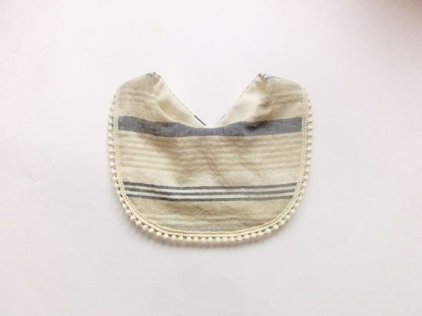 Organic cotton & linen stuffed stripe blue