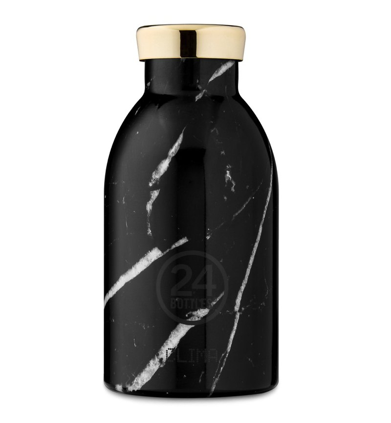 新品 24Bottles Clima Black Marble (330ml) - 保暖12hr保冷24hr