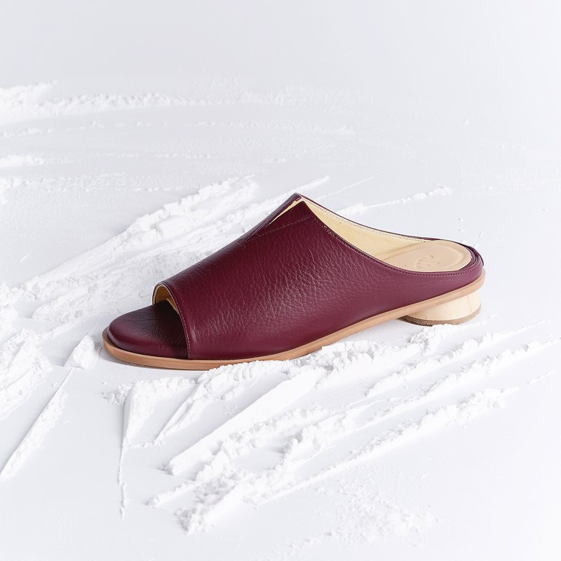 Red Burgundy - Pistachio Sandals