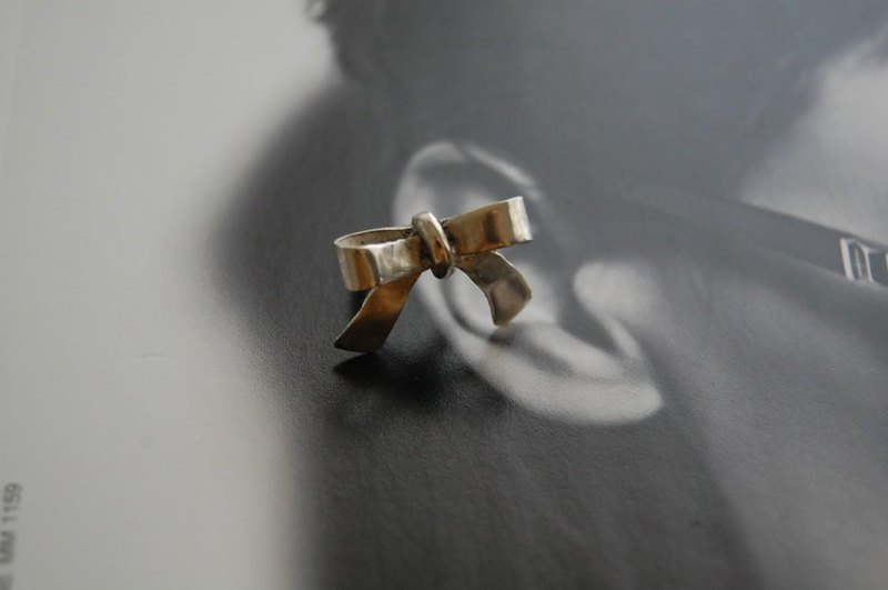 Ribbon ear cuff SILVER 950