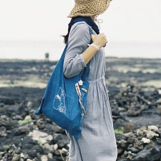 cat jobs 04 | Way to be Blue | natural indigo Tote Bag