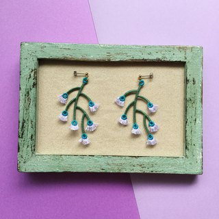 ARRO / Embroidery / Earrings / Branched / Lavender