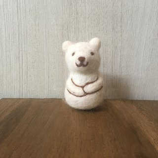 Matryoshka felt doll - polar bear
